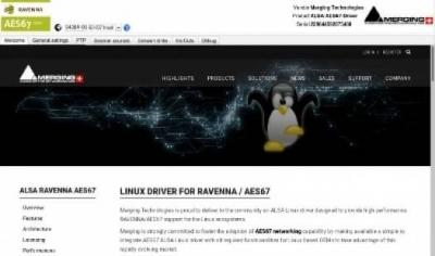Ravenna Virtual Soundcard per Linux by Merging Technologies